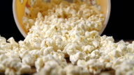 Fresh Popcorn Falling From a Box video