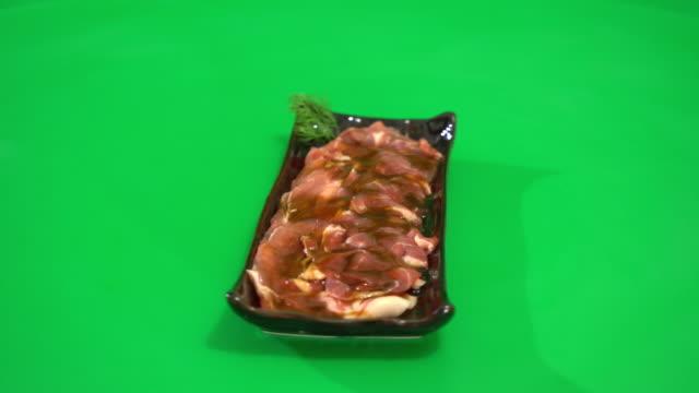 fresh pork sliced video