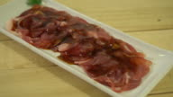 fresh pork sliced with sauce video