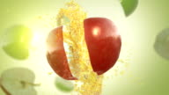 Fresh Red Apple (Slow Motion) video