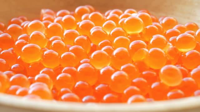 Fresh red caviar video