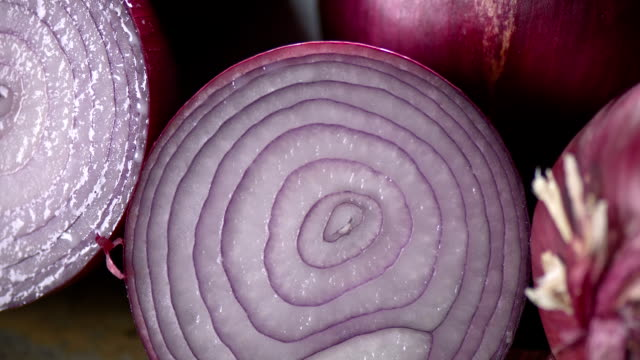 Fresh Red Onion close up video
