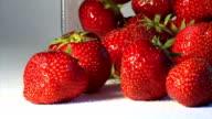 Fresh strawberries & sugar video