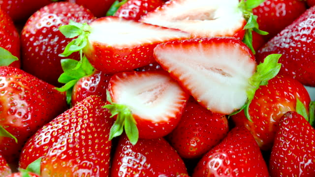 Fresh Strawberries close up video