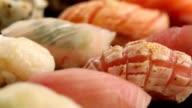 Fresh sushi fish video