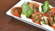 HD Fresh Tomato And Mozzarella cheese video