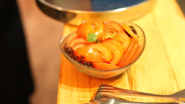 Fresh tomato salad ready to be served video