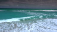Fresh turquoise ocean water in the carribean video