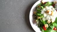 fresh vegetable salad - healthy food video
