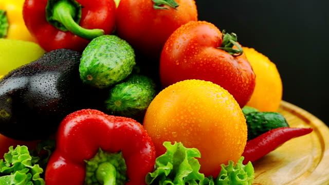 Fresh Vegetables Rotate video