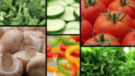 Fresh vegetables, video montage video