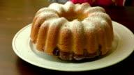 Freshly baked marble cake video