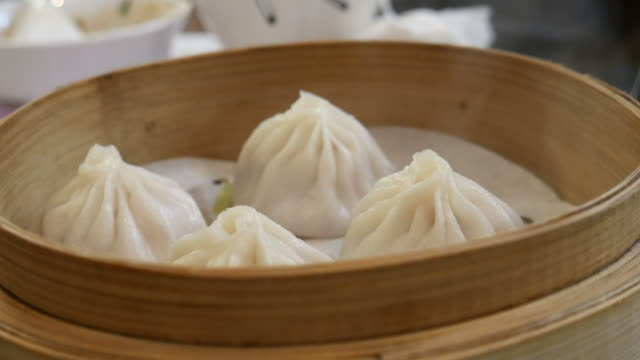 Freshly cooked dumplings video