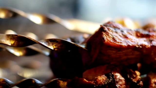 Freshly prepared barbecue. video