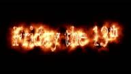Friday the Thirteenth Burning Logo Loopable Video video