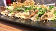 Fried Gyoza , Bangkok , Thailand. video