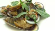 Fried mussel video