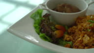 fried rice with steamed pork ribs video