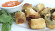 Fried spring roll video