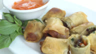 Fried spring rolls video