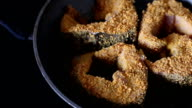 Fried sturgeon in the kitchen video