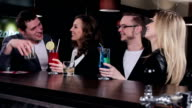 Friends at the bar video
