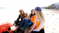 Friends at the beach 4K video