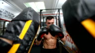 Friends boxing exercise video
