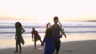 MONTAGE - Friends Dancing Bubbles Party Venice Beach Sun Flare California video