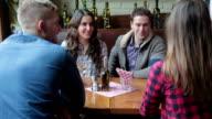 Friends drinking wine video