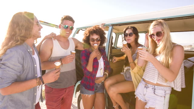 Friends eating icecream video