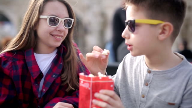Friends enjoy the beautiful sunny day video