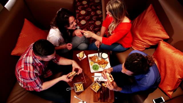 Friends Enjoying Food video