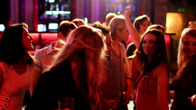 Friends Enjoying Party At The Club-Slow Motion video