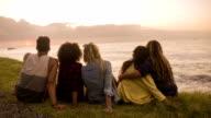 Friends enjoying the view video