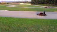 Friends have fun at go cart video