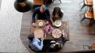 Friends having lunch in trattoria video