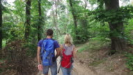 Friends hiking video