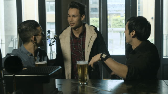 Friends meeting at the bar video
