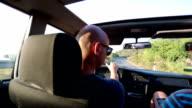 Friends on road trip video