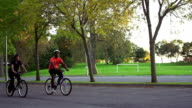 Friends riding bicycles video