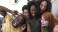 MONTAGE - Friends Selfies Mobile Phone Loft California video