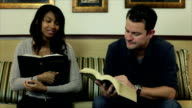 Friends Study From Their Bibles video