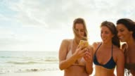 Friends Taking Selfie Together on the Beach video