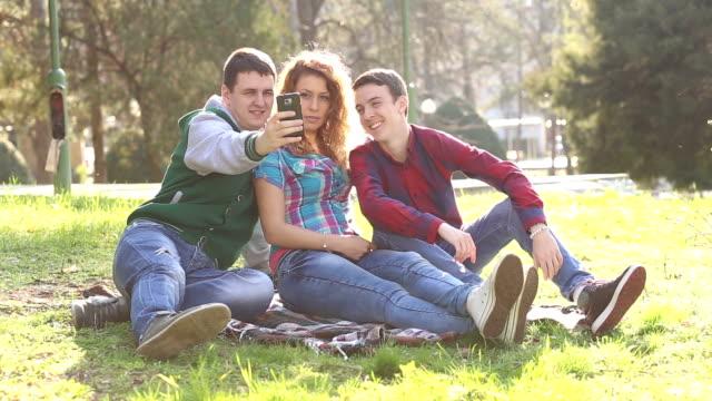 Friends Taking Selfie video