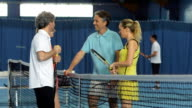 MS Friends Talking After Playing Tennis video