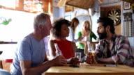 Friends Talking in a Bar video