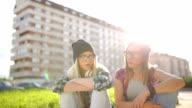 Friends talking video