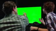 Friends Watch Chromakey TV - Right MS Celebration video