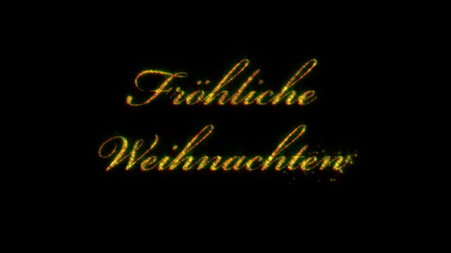 Frohliche Weihnachten: Merry Christmas in German, loopable from 8:00-12:00, with_matte video